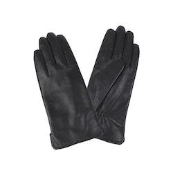 Handskar dam skinn svarta tunna