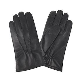 Handskar herr skinn svart tunna