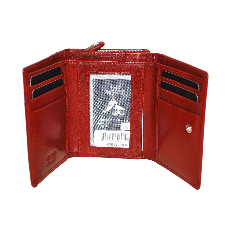 Börs dam skinn röd The Monte 62810