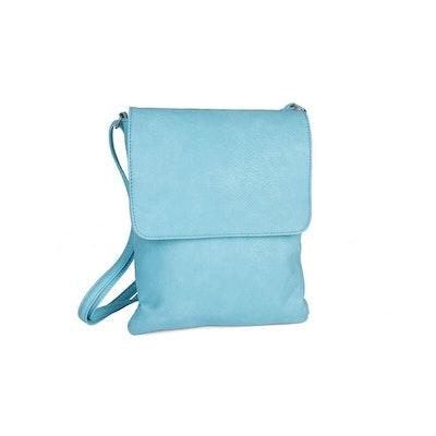 Axelväska lock ljusblå konstskinn Beagles DU15976