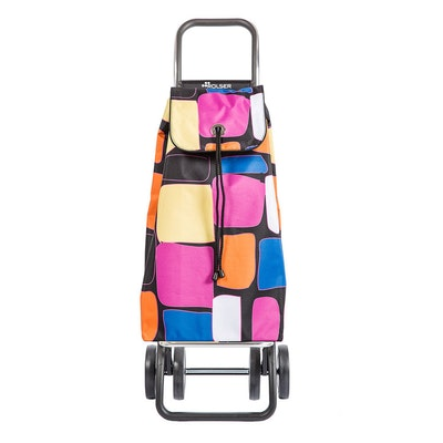 Shoppingvagn Rolser 2+2 Logic Imax Bancal rosa