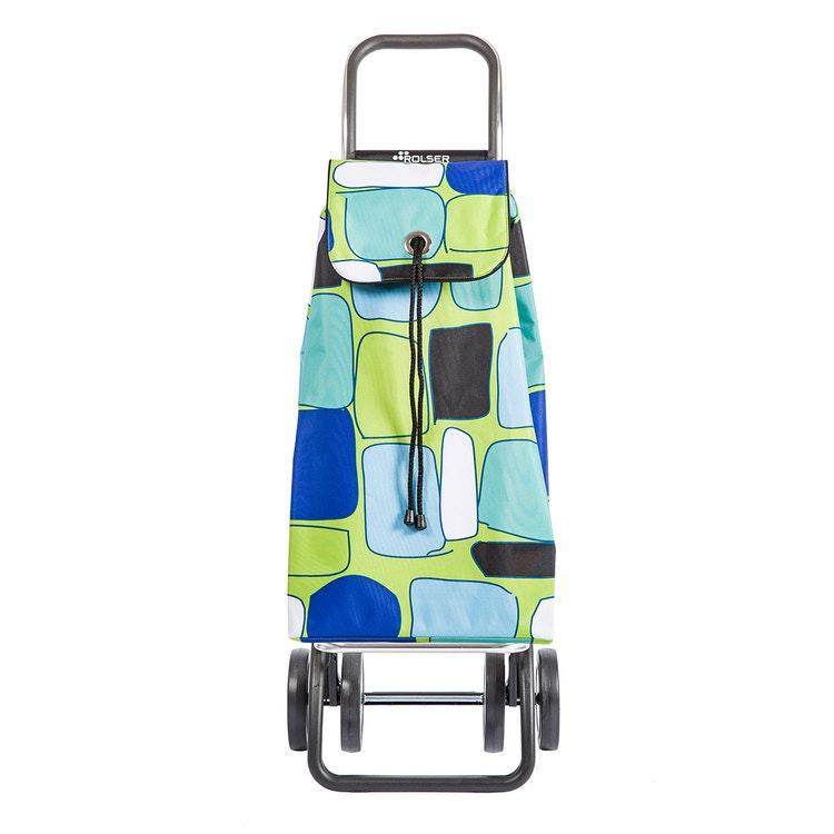 Shoppingvagn Rolser 2+2 Logic Imax Bancal grön Shoppingvagn Rolser Dramaten Dramatenvagn pris billig dramatenväska för shopping shoppingkärra