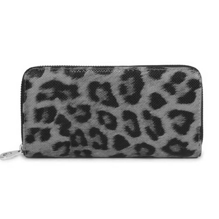 Plånboksväska leopard grå Charmant