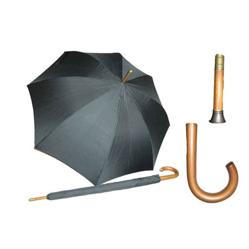 Paraply långt svart stormsäkert