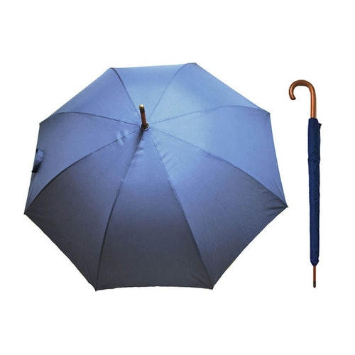 Paraply långt blå stormsäkert