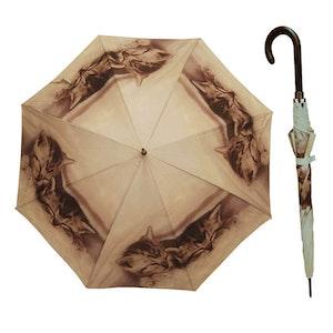Paraply långt dam med katter vindsäkert
