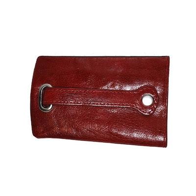 Nyckelfodral skinn med sleif röd The Monte