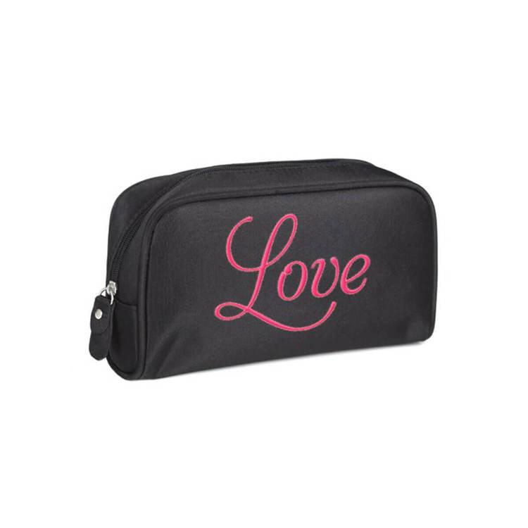 Sminkväska svart rosa Love Studio
