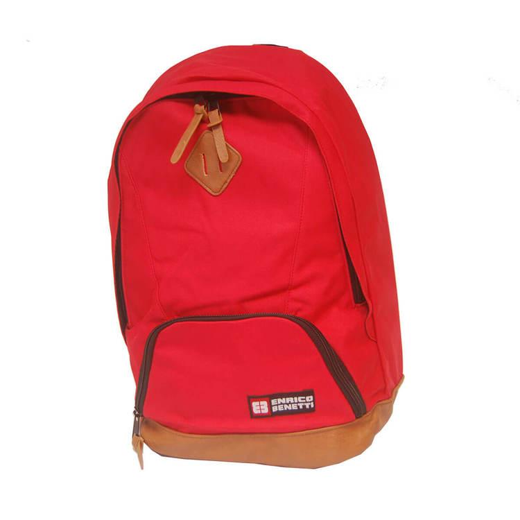 ryggsäck tyg röd brasilia enrico benetti 41dcf277e6fe9