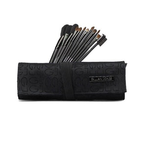 Makeup-penslar 12-pack svart tyg Gillian Jones