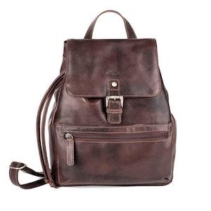 Ryggsäck skinn vintage brun The Monte 57158