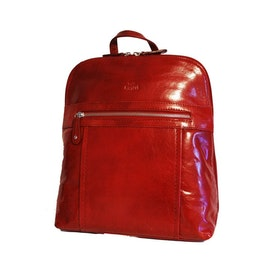 Ryggsäck skinn röd The Monte 52121
