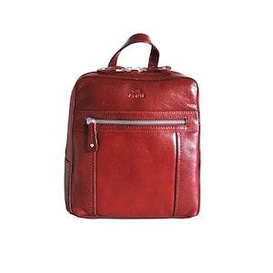 Ryggsäck skinn röd The Monte 52111