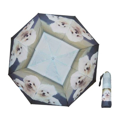 Paraply hopfällbart dam hundar