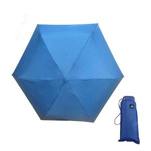 Paraply mini hopfällbart blå