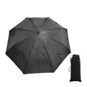 Paraply mini hopfällbart svart