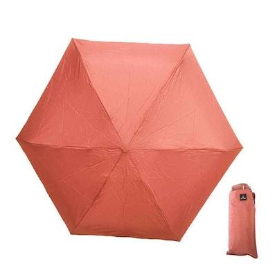 Paraply mini hopfällbart gammelrosa