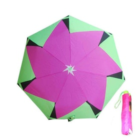 Paraply hopfällbart dam limegrön cerise