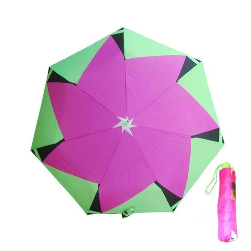 Paraply hopfällbart limegrön cerise