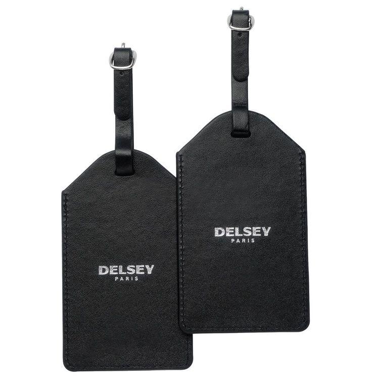 Adresshållare skinn svart 2-pack Delsey