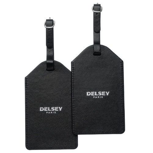 Adresshållare konstskinn svart 2-pack Delsey