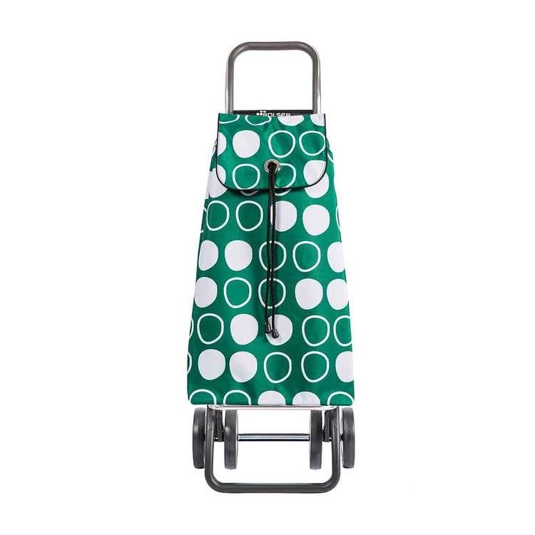 Shoppingvagn Rolser 2+2 Logic Imax Symbol grön Shoppingvagn Rolser Dramaten Dramatenvagn pris billig dramatenväska för shopping shoppingkärra