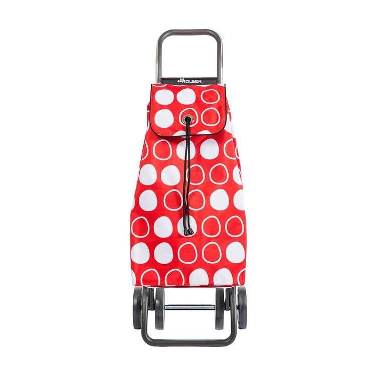 Shoppingvagn Rolser 2+2 Logic Imax Symbol röd Shoppingvagn Rolser Dramaten Dramatenvagn pris billig dramatenväska för shopping shoppingkärra