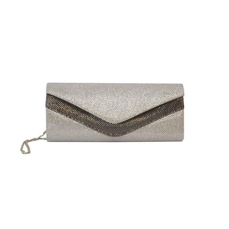 Kuvertväska tyg silver Maricci 30145