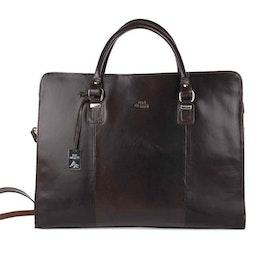 Handväska skinn svart The Monte 51067