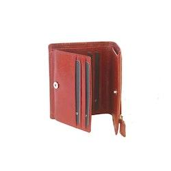 Plånbok skinn röd The Monte 62629