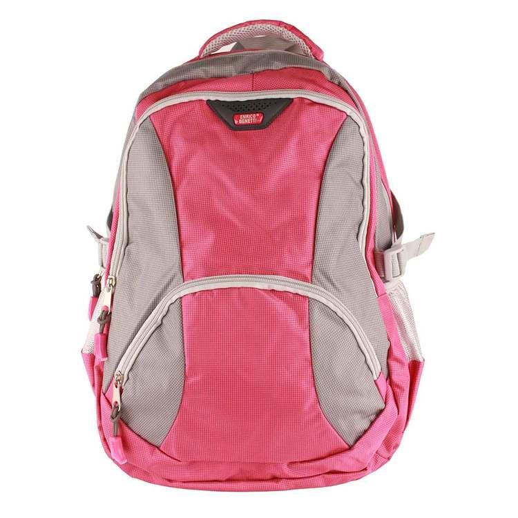Ryggsäck tyg rosa grå Enrico Benetti - Bags4Fun.se a4843ecbe5d9e