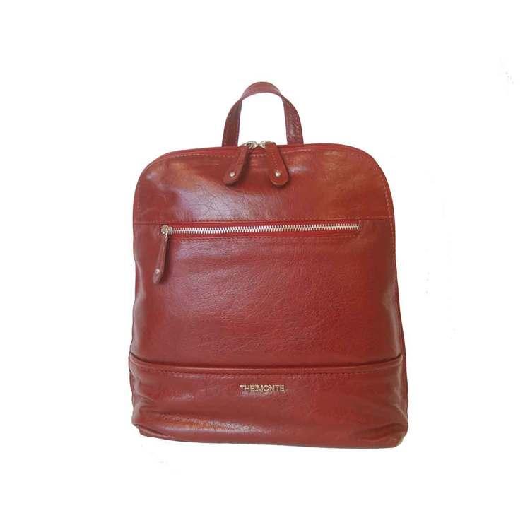 Ryggsäck skinn röd The Monte 52374 - Bags4Fun.se ea95a8ab997fc