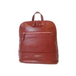 Ryggsäck skinn röd The Monte 52374