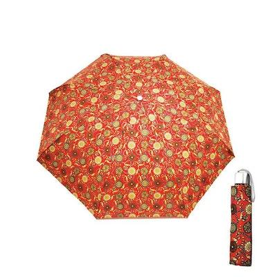 Paraply hopfällbart dam röd med medaljonger