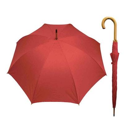 Paraply långt dam enfärgat röd