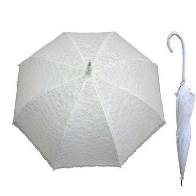 Paraply brud vit spets