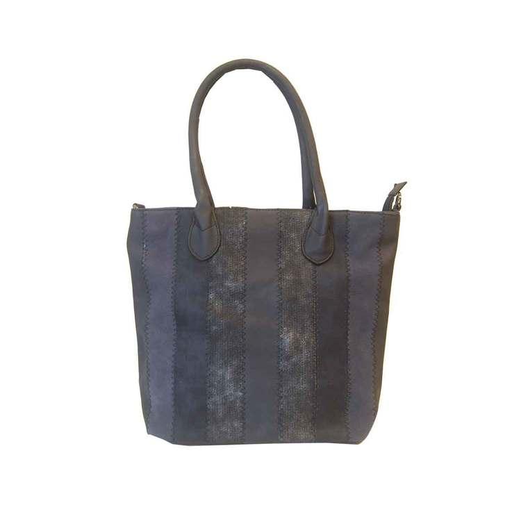Shoppingväska marinblå PU SAC 5129600