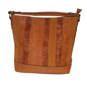 Handväska cognac PU SAC 5130400