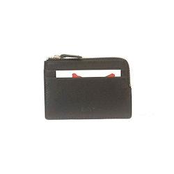 Kortfodral med myntfack skinn svart  SAC 6600110
