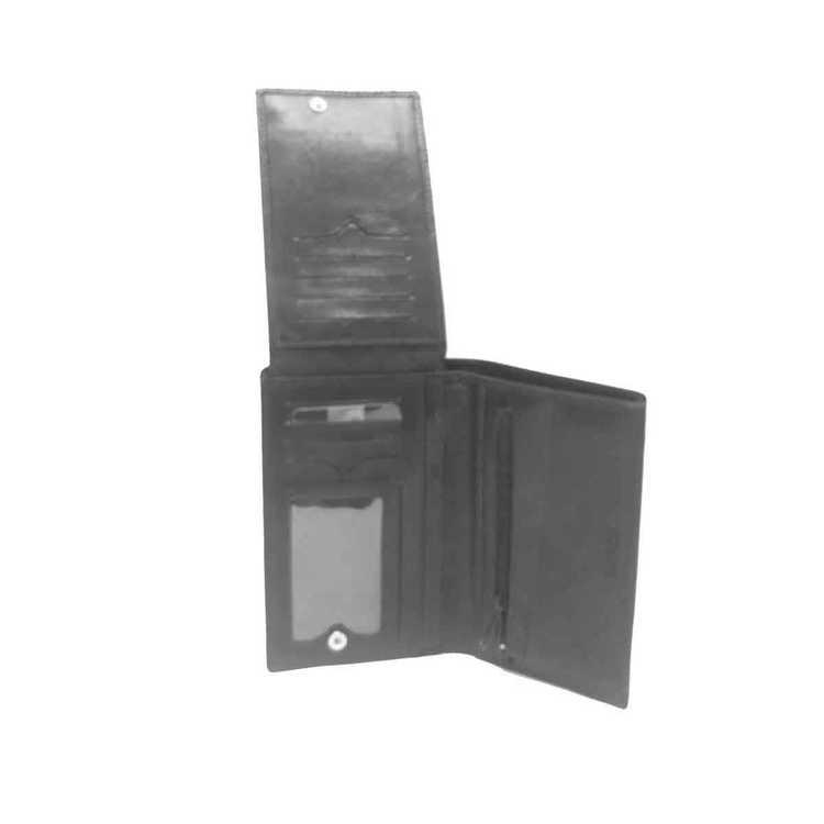 ... Plånbok herr skinn svart SAC 6316010 insida uppfälld ... c570a76a8db10