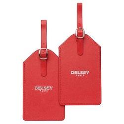 Adresshållare PU röd 2-pack Delsey