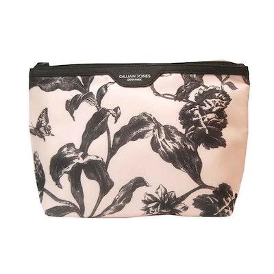Necessär rosa svart blommig Gillian Jones