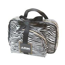 Sminkbox + sminkväska zebra svart vit  JJDK