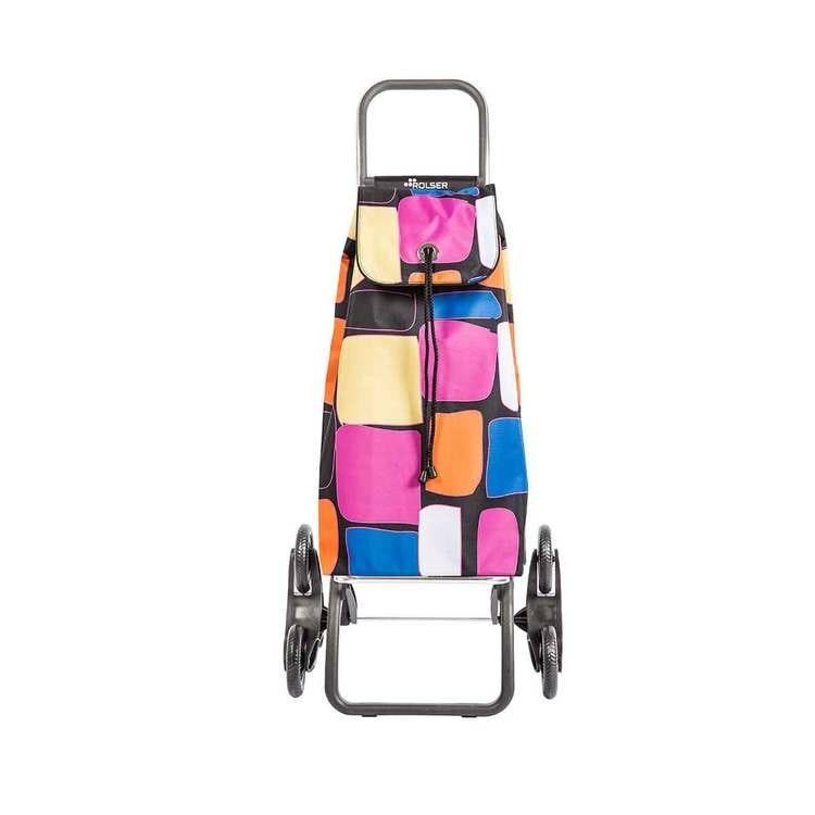 Shoppingvagn Rolser RD6 Logic Trappklättraren. Perfekt för dig som bot i hus utan hiss. Den är hopfällbar och klättrar lätt i trappor med full last. Pastell