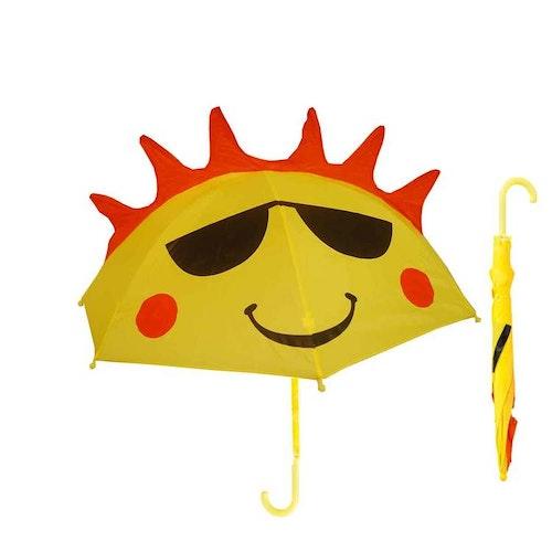 Paraply långt barn glad sol