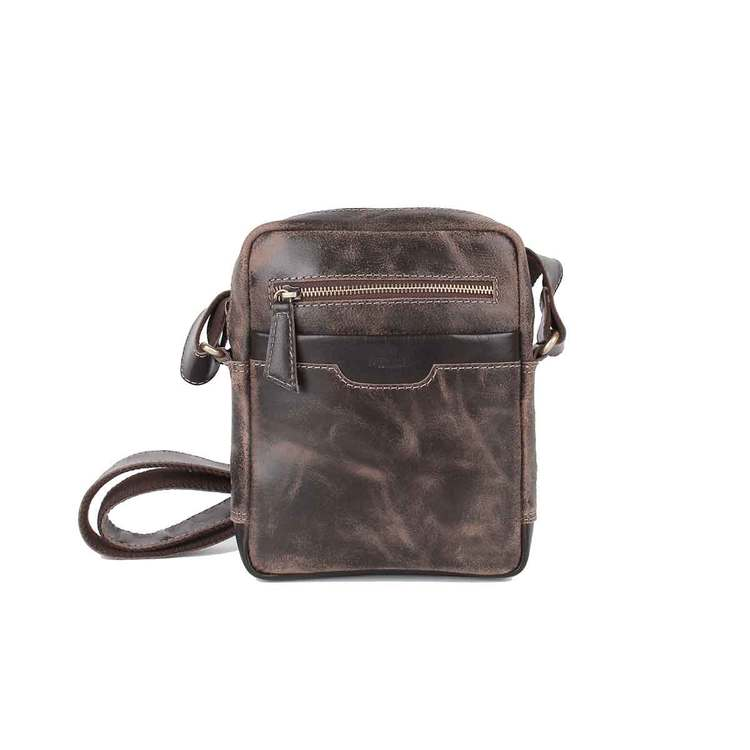 Axelväska vintage skinn brun The Monte 57300