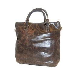 Kasse vintage skinn brun The Monte 57305