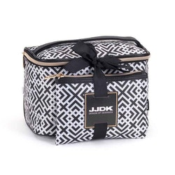 Sminkbox + sminkväska svartvit rutig JJDK