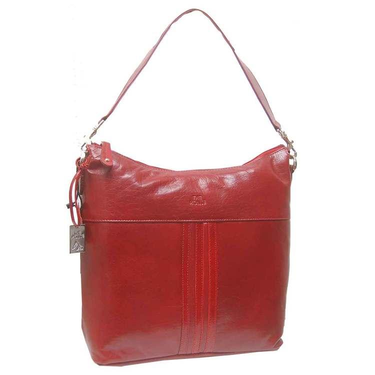 Kasse påsmodell skinn röd The Monte 52359
