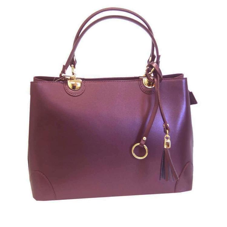 Handväska italienskt skinn lila SAC